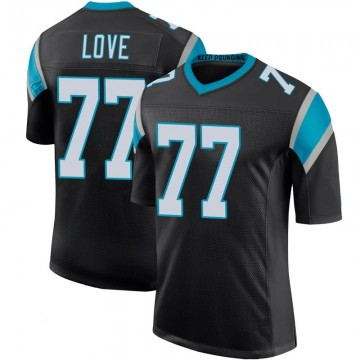 Youth Nike Carolina Panthers Kyle Love Black Team Color 100th Vapor Untouchable Jersey - Limited