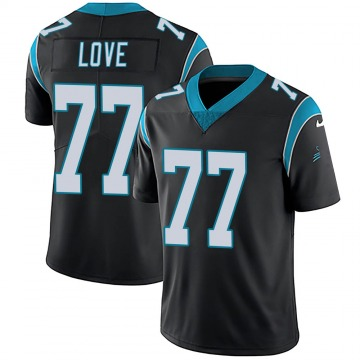 Youth Nike Carolina Panthers Kyle Love Black Team Color Vapor Untouchable Jersey - Limited