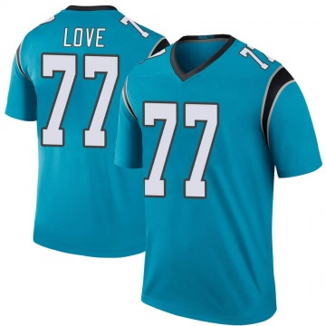 Youth Nike Carolina Panthers Kyle Love Blue Color Rush Jersey - Legend