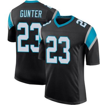 Youth Nike Carolina Panthers LaDarius Gunter Black Team Color 100th Vapor Untouchable Jersey - Limited
