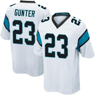 Youth Nike Carolina Panthers LaDarius Gunter White Jersey - Game