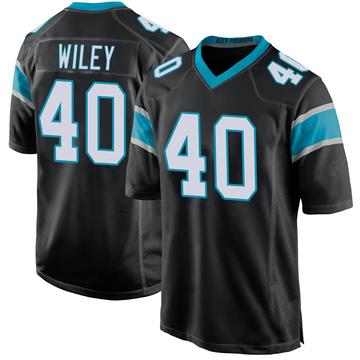 Youth Nike Carolina Panthers LaDarius Wiley Black Team Color Jersey - Game