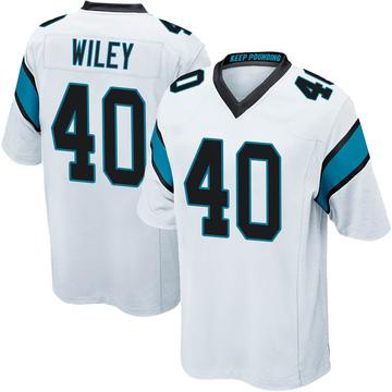 Youth Nike Carolina Panthers LaDarius Wiley White Jersey - Game