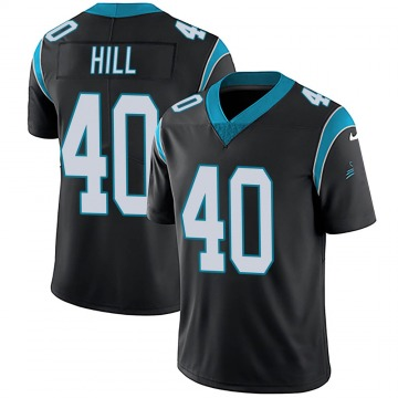 Youth Nike Carolina Panthers Lano Hill Black Team Color Vapor Untouchable Jersey - Limited