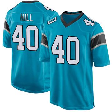 Youth Nike Carolina Panthers Lano Hill Blue Alternate Jersey - Game