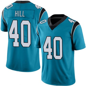 Youth Nike Carolina Panthers Lano Hill Blue Alternate Vapor Untouchable Jersey - Limited