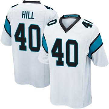 Youth Nike Carolina Panthers Lano Hill White Jersey - Game