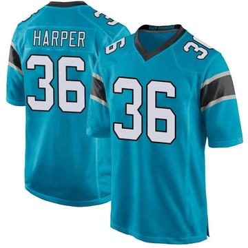 Youth Nike Carolina Panthers Madre Harper Blue Alternate Jersey - Game