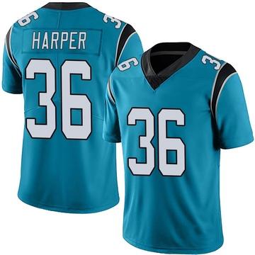 Youth Nike Carolina Panthers Madre Harper Blue Alternate Vapor Untouchable Jersey - Limited