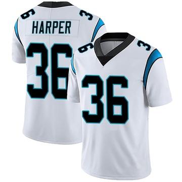 Youth Nike Carolina Panthers Madre Harper White Vapor Untouchable Jersey - Limited