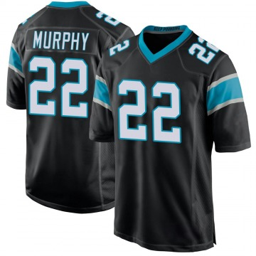 Youth Nike Carolina Panthers Marcus Murphy Black Team Color Jersey - Game