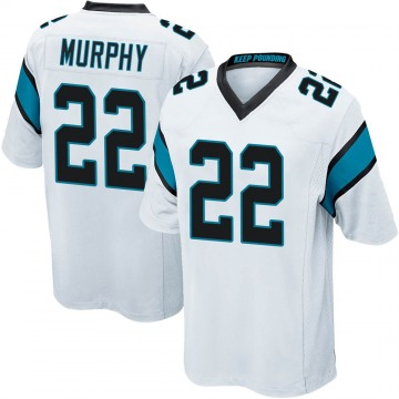 Youth Nike Carolina Panthers Marcus Murphy White Jersey - Game