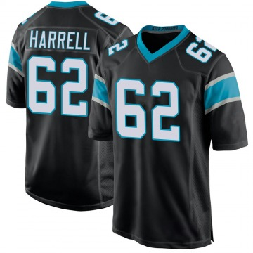 Youth Nike Carolina Panthers Marquel Harrell Black Team Color Jersey - Game