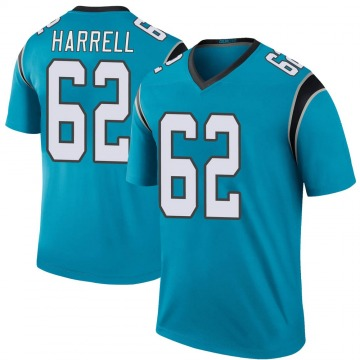 Youth Nike Carolina Panthers Marquel Harrell Blue Color Rush Jersey - Legend