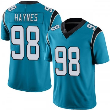 Youth Nike Carolina Panthers Marquis Haynes Blue Alternate Vapor Untouchable Jersey - Limited