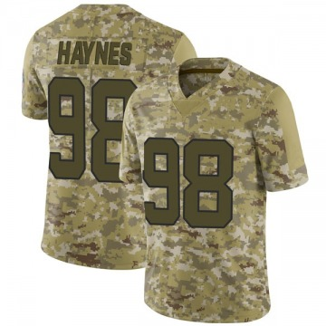 Youth Nike Carolina Panthers Marquis Haynes Camo 2018 Salute to Service Jersey - Limited