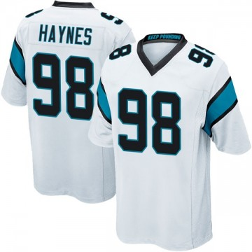 Youth Nike Carolina Panthers Marquis Haynes White Jersey - Game