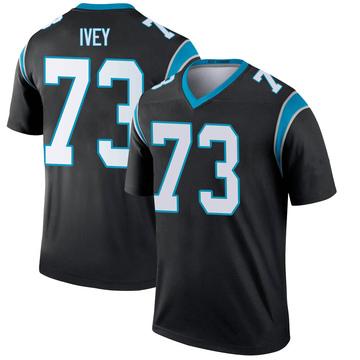 Youth Nike Carolina Panthers Martez Ivey Black Jersey - Legend