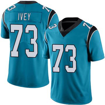 Youth Nike Carolina Panthers Martez Ivey Blue Alternate Vapor Untouchable Jersey - Limited