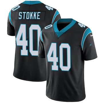 Youth Nike Carolina Panthers Mason Stokke Black Team Color Vapor Untouchable Jersey - Limited