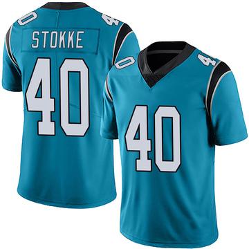 Youth Nike Carolina Panthers Mason Stokke Blue Alternate Vapor Untouchable Jersey - Limited