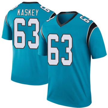 Youth Nike Carolina Panthers Matt Kaskey Blue Color Rush Jersey - Legend