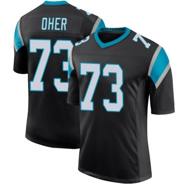 Youth Nike Carolina Panthers Michael Oher Black Team Color 100th Vapor Untouchable Jersey - Limited