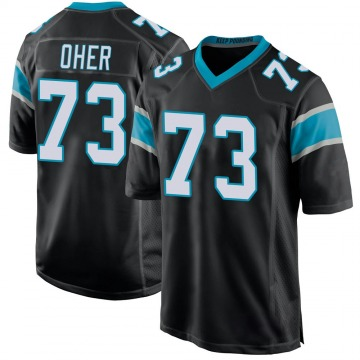 Youth Nike Carolina Panthers Michael Oher Black Team Color Jersey - Game
