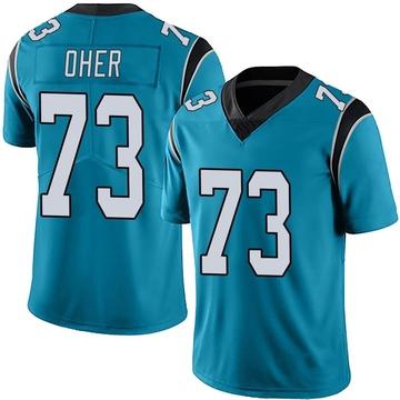 Youth Nike Carolina Panthers Michael Oher Blue Alternate Vapor Untouchable Jersey - Limited