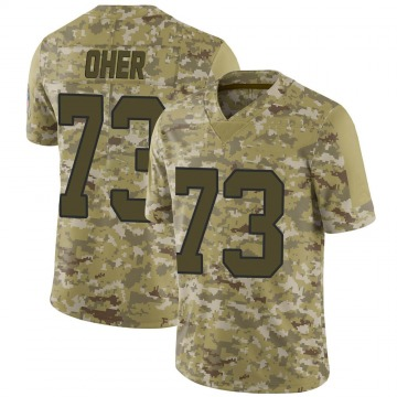 Youth Nike Carolina Panthers Michael Oher Camo 2018 Salute to Service Jersey - Limited