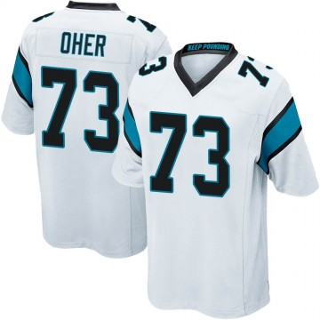 Youth Nike Carolina Panthers Michael Oher White Jersey - Game