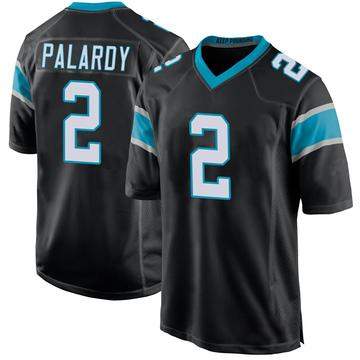 Youth Nike Carolina Panthers Michael Palardy Black Team Color Jersey - Game