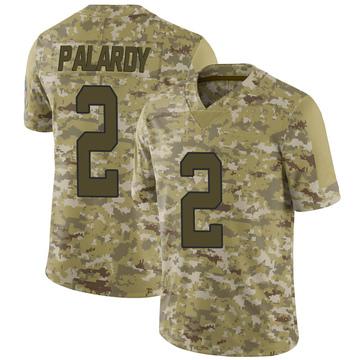 Youth Nike Carolina Panthers Michael Palardy Camo 2018 Salute to Service Jersey - Limited