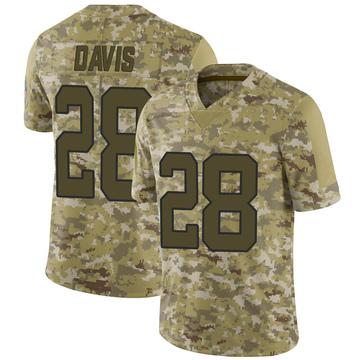 Youth Nike Carolina Panthers Mike Davis Camo 2018 Salute to Service Jersey - Limited