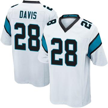 Youth Nike Carolina Panthers Mike Davis White Jersey - Game