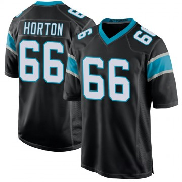 Youth Nike Carolina Panthers Mike Horton Black Team Color Jersey - Game