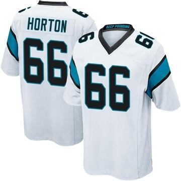 Youth Nike Carolina Panthers Mike Horton White Jersey - Game