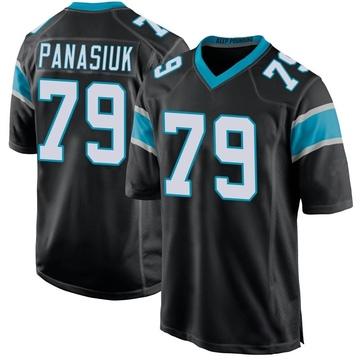 Youth Nike Carolina Panthers Mike Panasiuk Black Team Color Jersey - Game