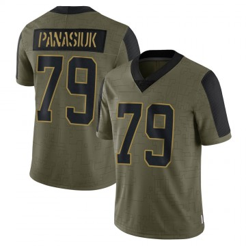 Youth Nike Carolina Panthers Mike Panasiuk Olive 2021 Salute To Service Jersey - Limited