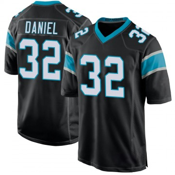 Youth Nike Carolina Panthers Mikey Daniel Black Team Color Jersey - Game