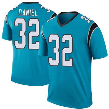 Youth Nike Carolina Panthers Mikey Daniel Blue Color Rush Jersey - Legend