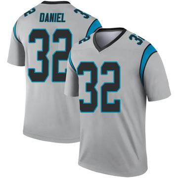 Youth Nike Carolina Panthers Mikey Daniel Inverted Silver Jersey - Legend