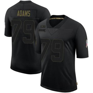 Youth Nike Carolina Panthers Myles Adams Black 2020 Salute To Service Jersey - Limited