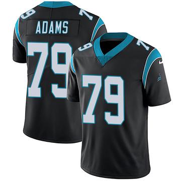 Youth Nike Carolina Panthers Myles Adams Black Team Color Vapor Untouchable Jersey - Limited