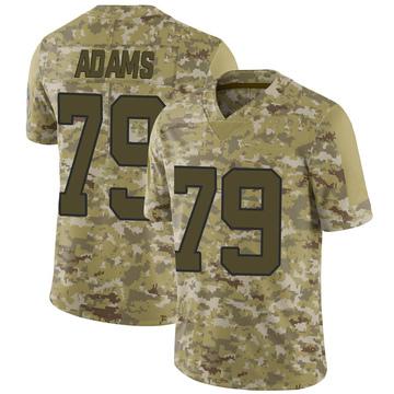 Youth Nike Carolina Panthers Myles Adams Camo 2018 Salute to Service Jersey - Limited