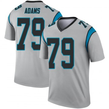 Youth Nike Carolina Panthers Myles Adams Inverted Silver Jersey - Legend