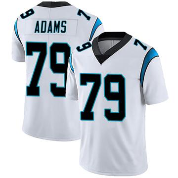 Youth Nike Carolina Panthers Myles Adams White Vapor Untouchable Jersey - Limited