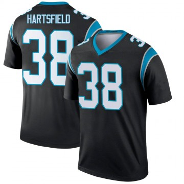 Youth Nike Carolina Panthers Myles Hartsfield Black Jersey - Legend