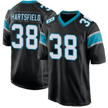 Youth Nike Carolina Panthers Myles Hartsfield Black Team Color Jersey - Game