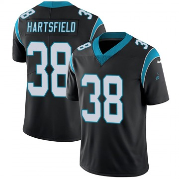 Youth Nike Carolina Panthers Myles Hartsfield Black Team Color Vapor Untouchable Jersey - Limited